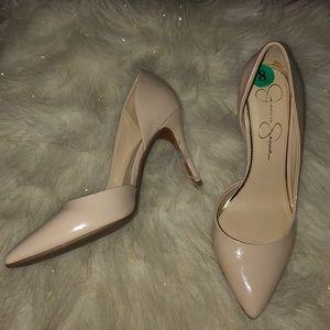 Jessica Simpson Shoes - Jessica Simpson nude heels size 8